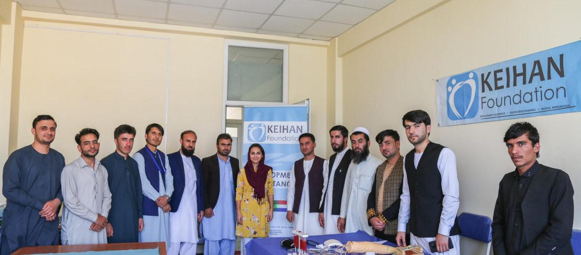 Keihan group together at the clinical skills in Afghanistan